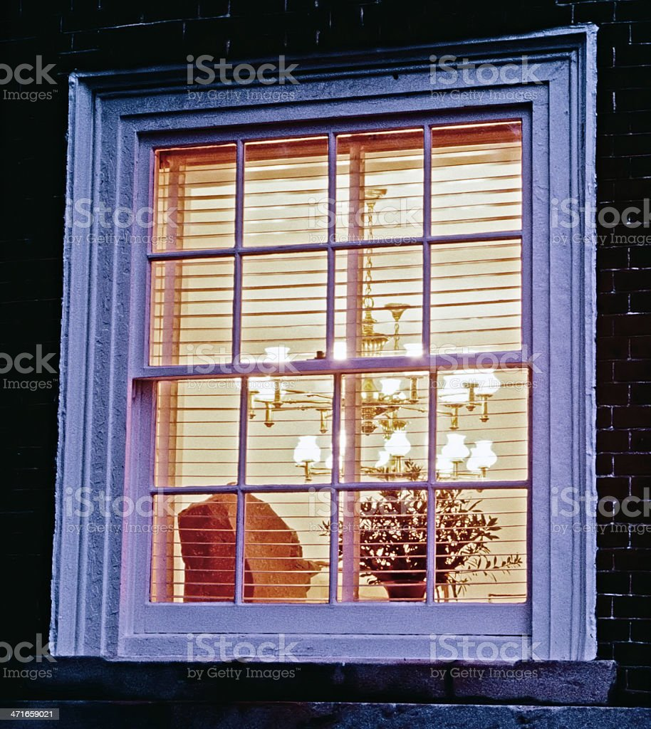 Historic window royalty-free stock photo