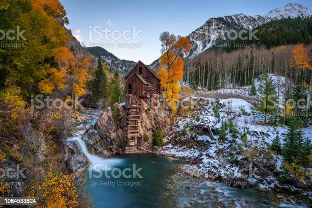 Photo of Historic wooden powerhouse called the Crystal Mill in Colorado