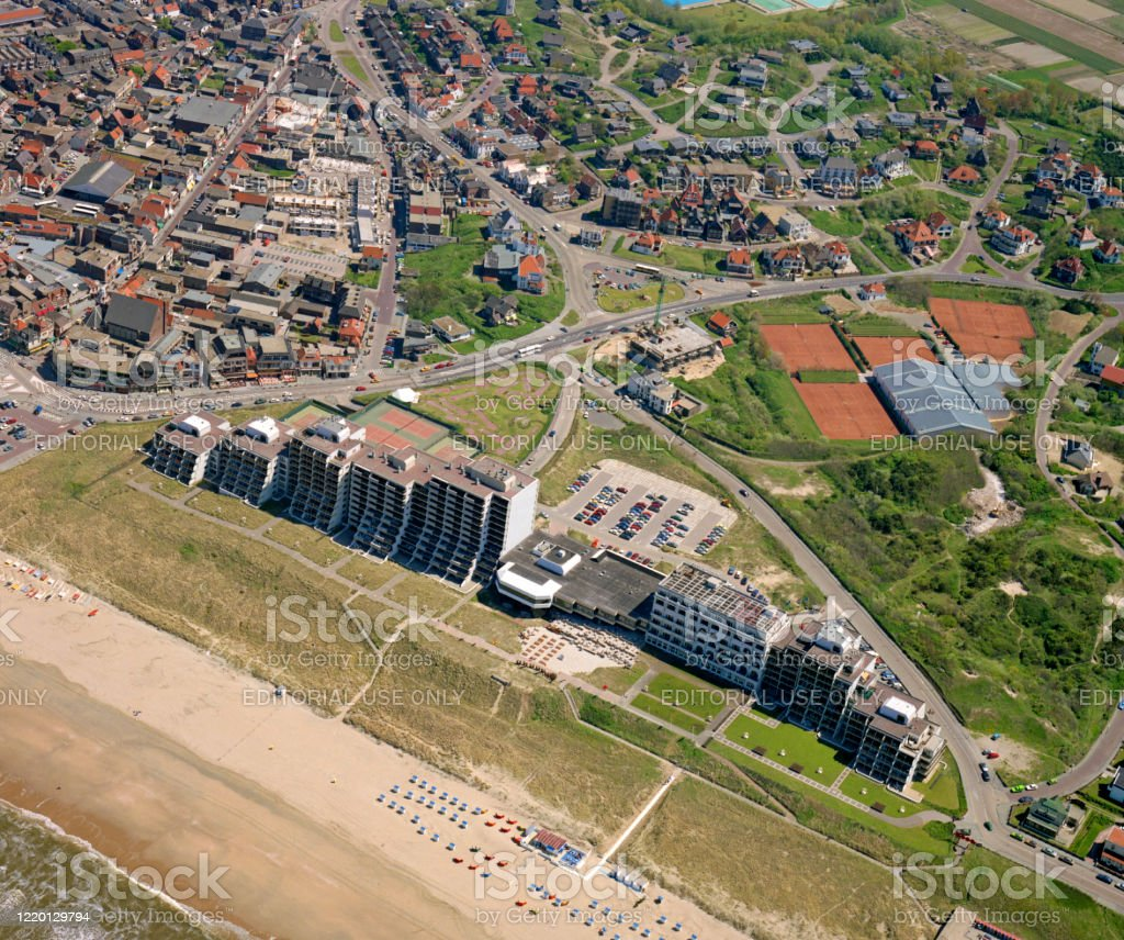 Historical Aerial Photo Of Grand Hotel Huis Ter Duin Stock Photo Download Image Now Istock
