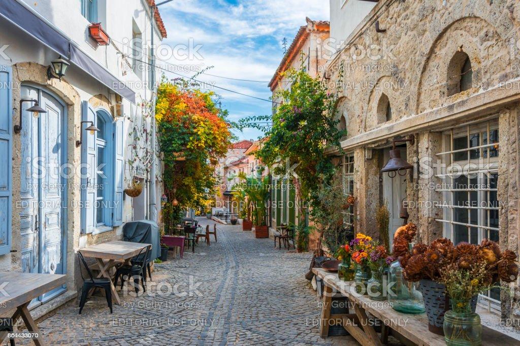 Historische Alacati stad in Turkije foto