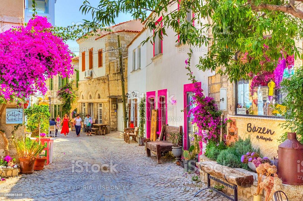 Historical Alacati Town, Turkey foto