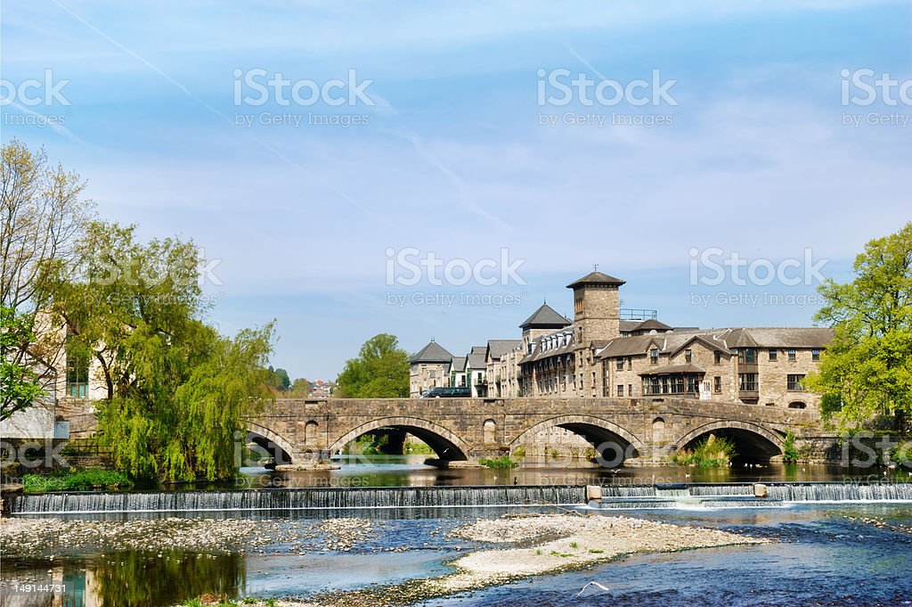 Historical arched bridge stock photo