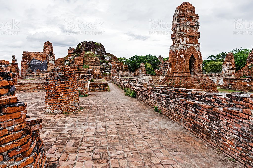 Historical architecture in Ayutthaya, Thailand photo libre de droits