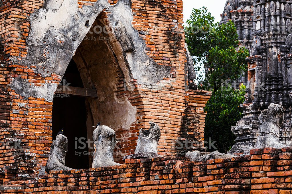 Historical architecture in Ayutthaya, Thailand photo libre de droits