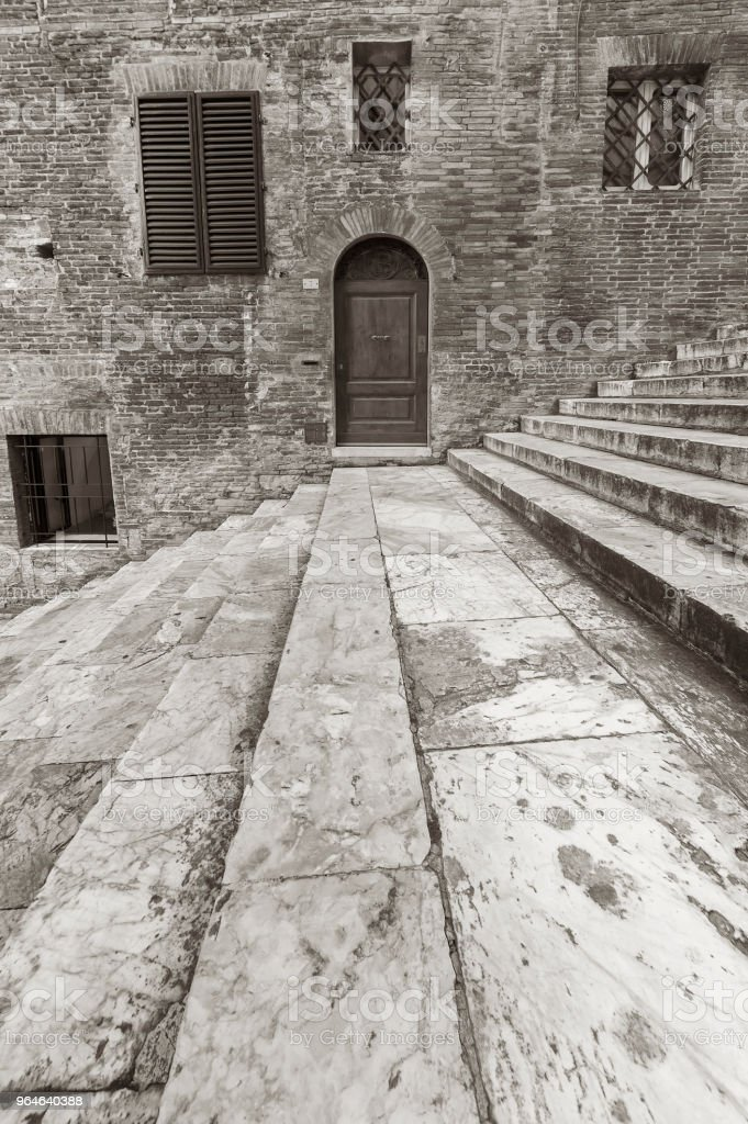 historical architecture in Siena, Italy royalty-free stock photo