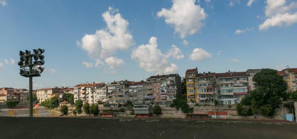 Historische Balat Stadthäuser traditionelle in Fatih Istanbul Türkei – Foto