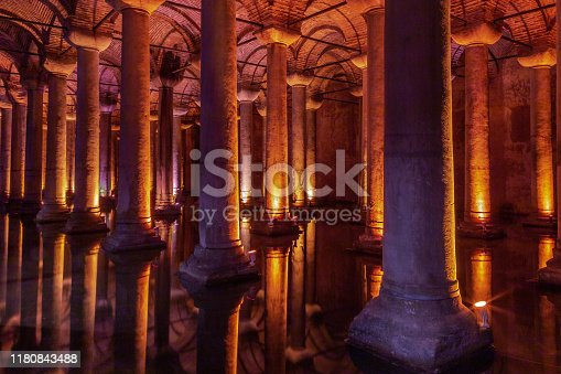 Basilica Cistern is one the remarkable historical side if the side which sits under the Istanbul city. There are several hundred cisterns, but Basilica kept with little water, for public access inside the space.