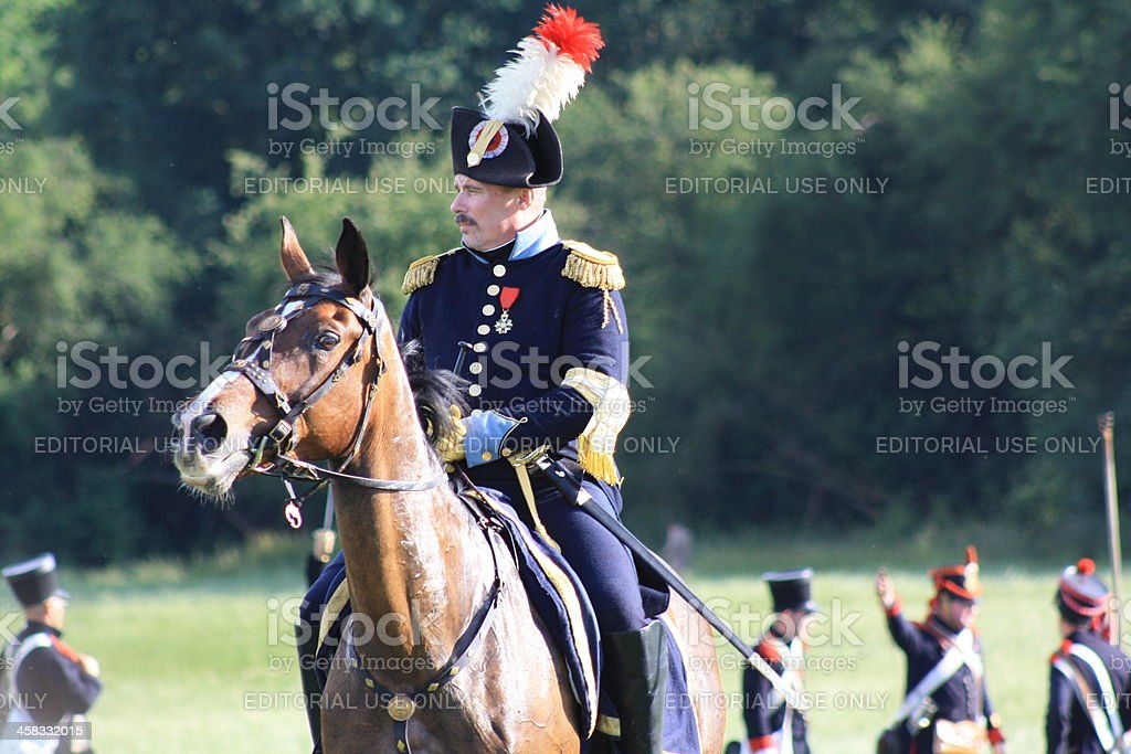 Historical Battle of Waterloo stock photo