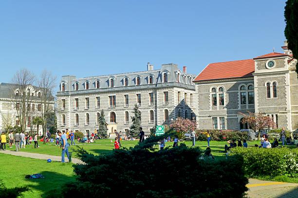 historical bogazici university istanbul turkey stok fotoğrafı