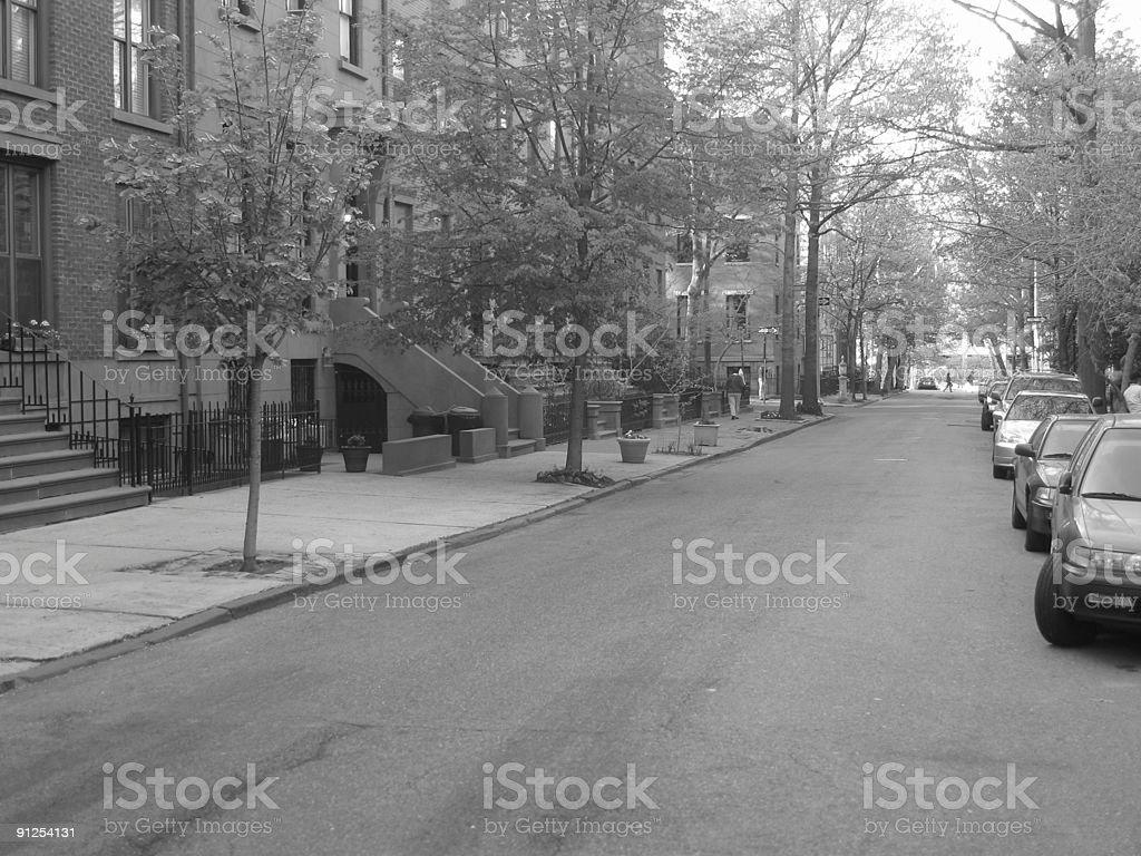 historical brooklyn street royalty-free stock photo