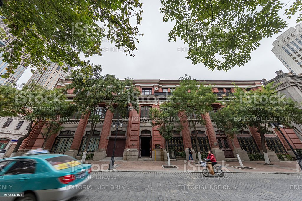 Historical Buildihng at tianjin Dowtown, China foto royalty-free