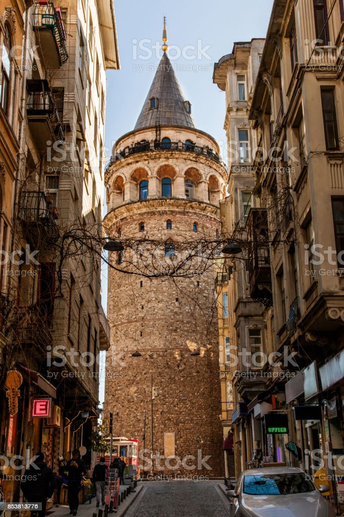 Historical Building - Galata Tower stock photo