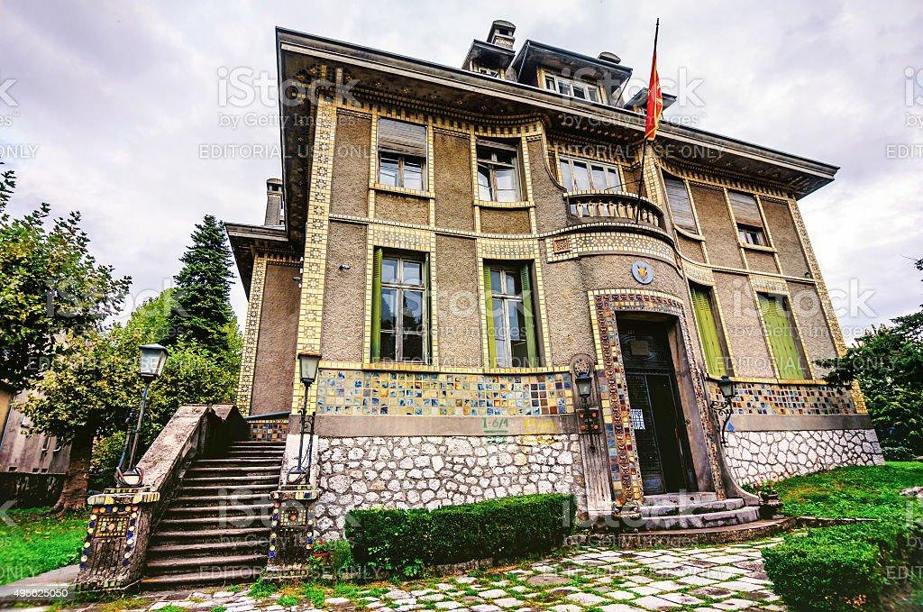 歴史的な建物で Cetinje 、モンテネグロ、魔女が、フランス ロイヤリティフリーストックフォト