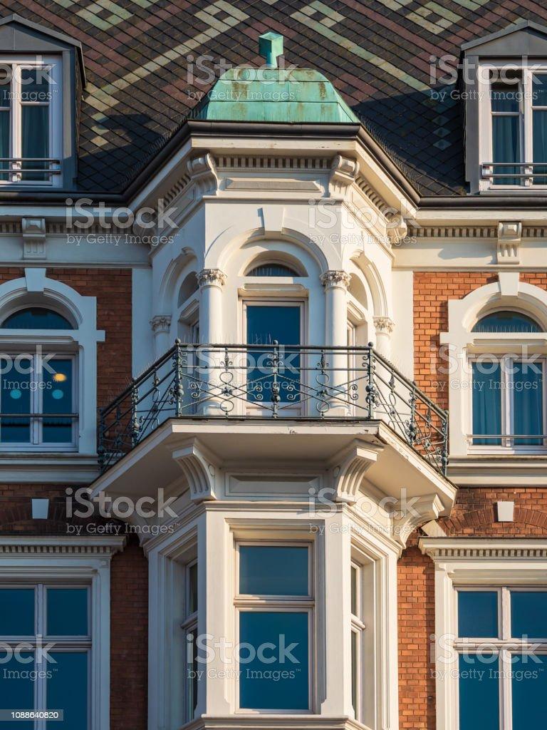 Historisches Gebäude in der Stadt Rostock, Deutschland – Foto