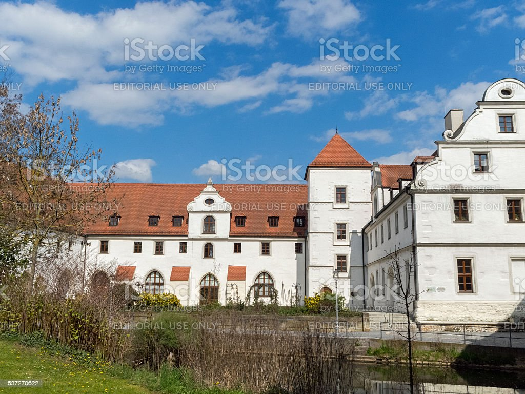 Historical building: The Electoral Arsenal of the bavarian town Amberg stock photo