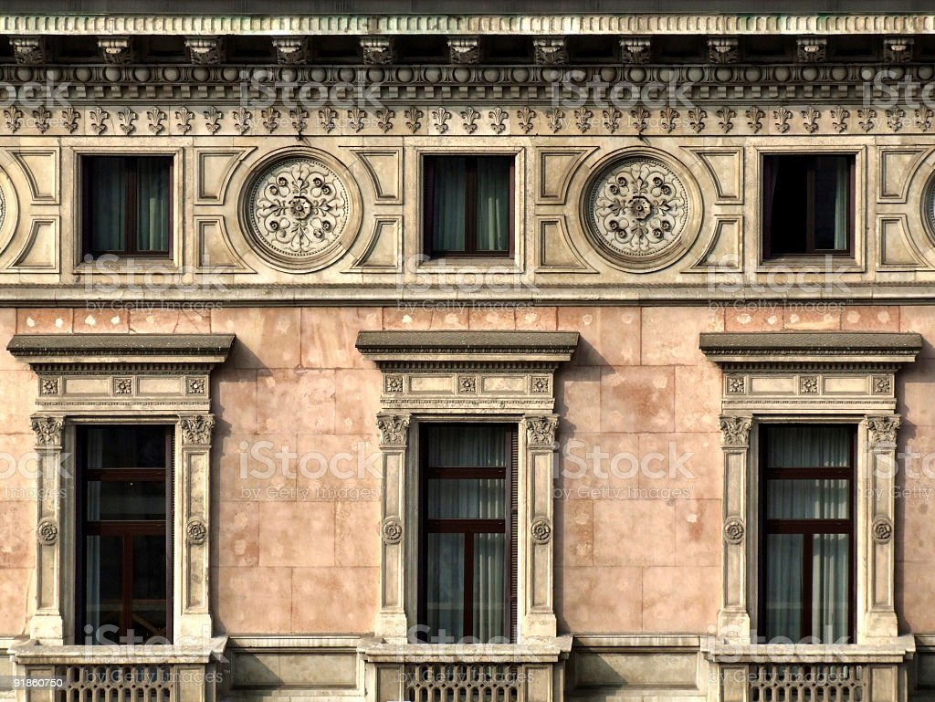 Historical building wall royalty-free stock photo