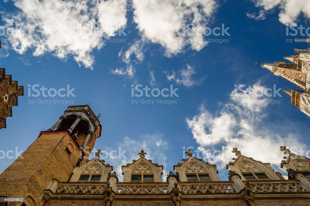 Historical buildings in Bruges Belgium stock photo