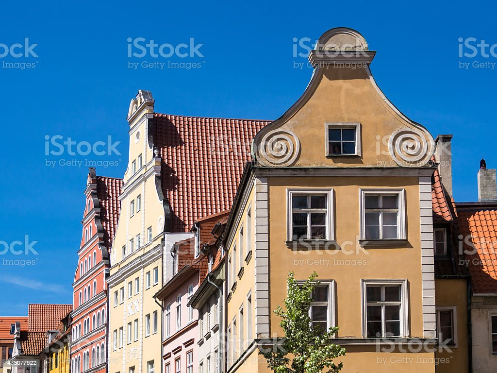 Historical buildings in Stralsund stock photo