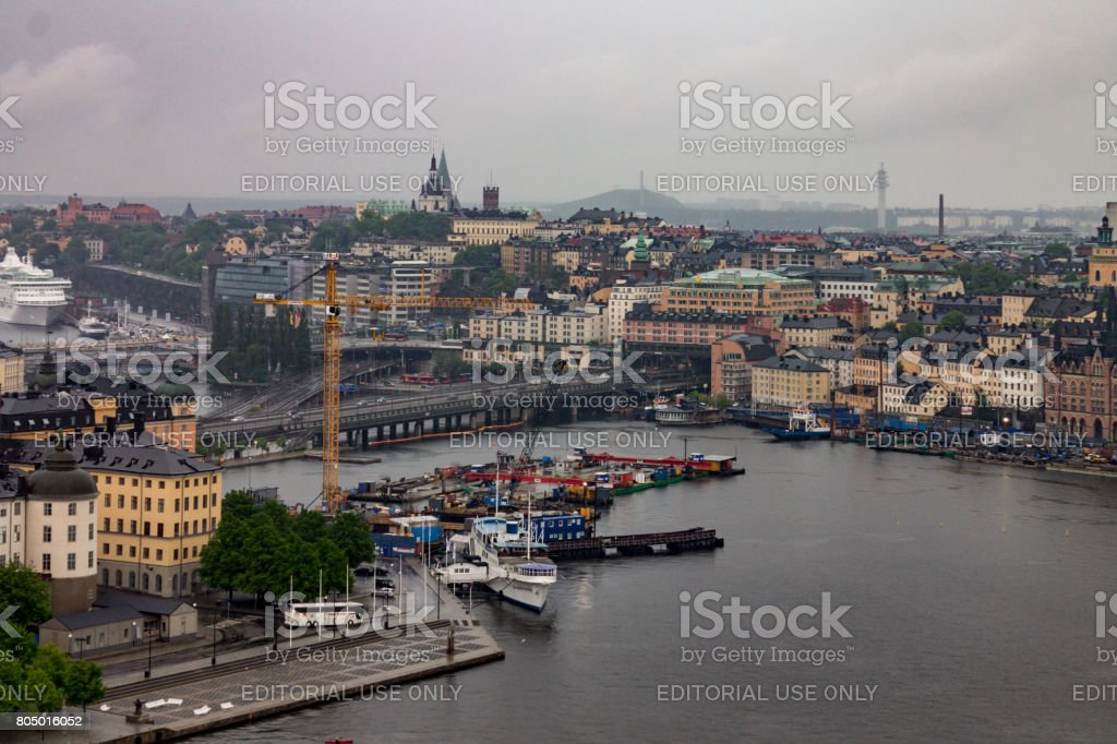 Historical Buildings Stockholm Sweden stock photo