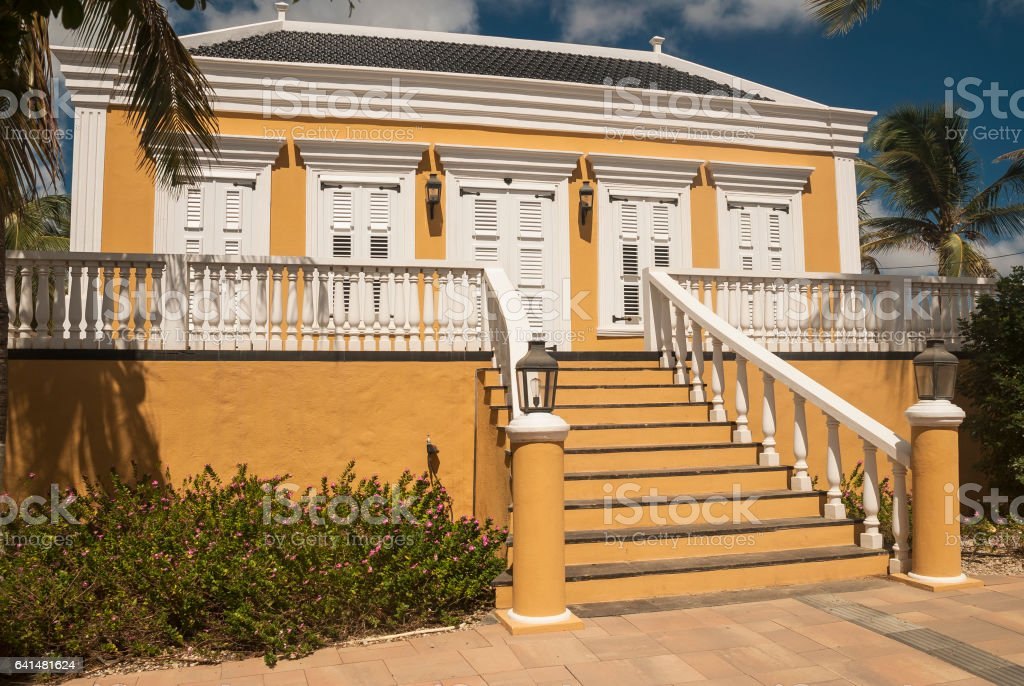 Historical Caribbean house stock photo