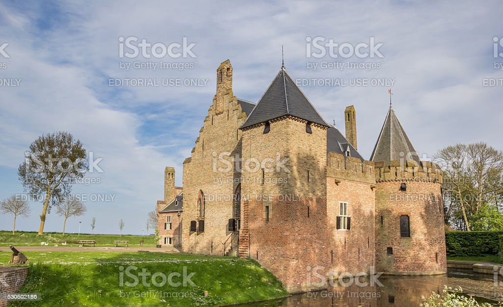 Historical castle Radboud in Medemblik stock photo