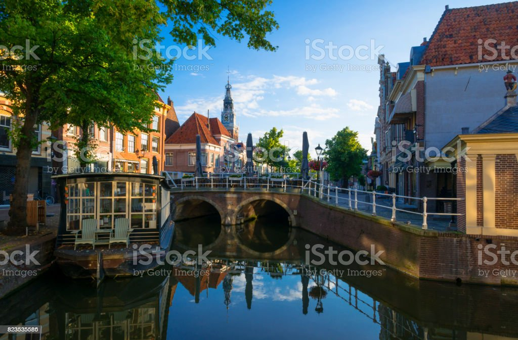 Historical Center of Alkmaar stock photo