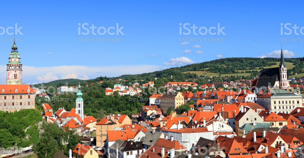Historical center of Cesky Krumlov stock photo