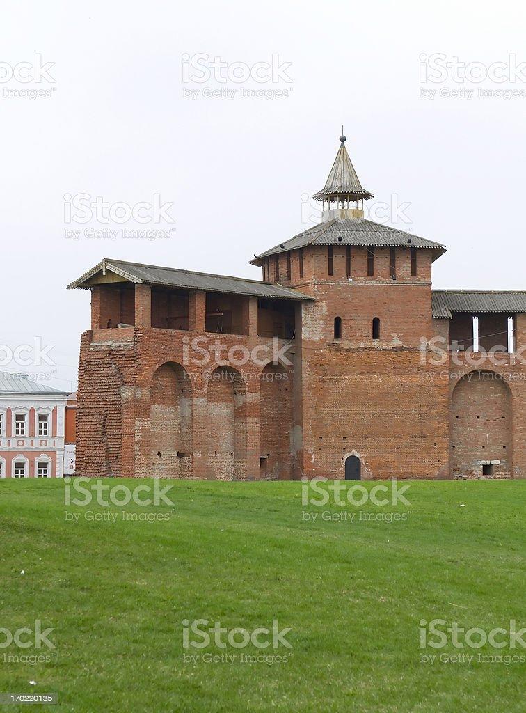 Historical center of Kolomna city near Moscow royalty-free stock photo