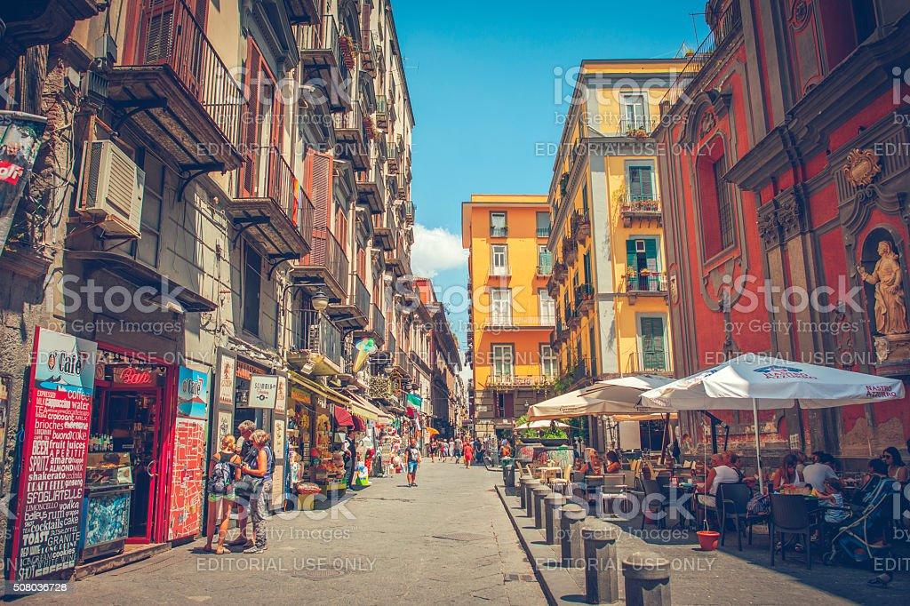 Historical center of Naples stock photo