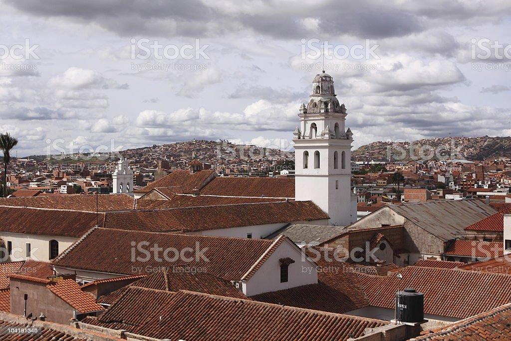 Historical Center of Sucre, Bolivia stock photo