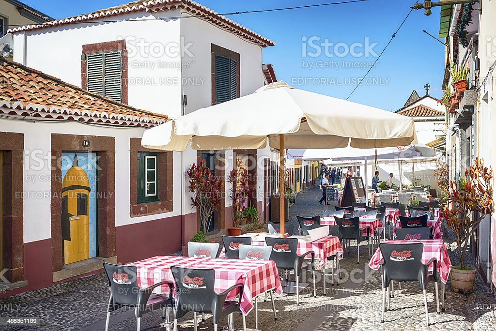 Historical centre of Funchal, Madeira. royalty-free stock photo