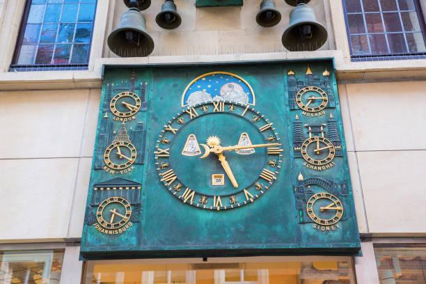 historischen glockenspiel und weltzeit-uhr in der altstadt von münster - last minute urlaub deutschland stock-fotos und bilder