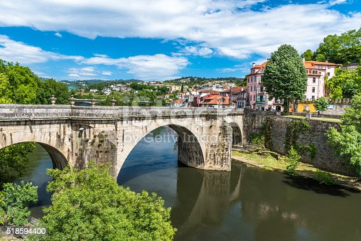 Historical City Amarante in the north of Portugal