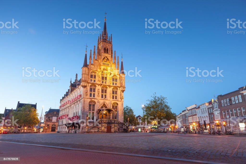 Historical City Center, Gouda stock photo