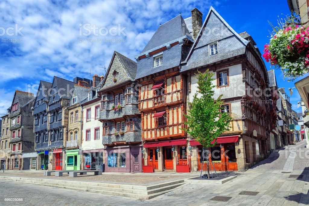 Historische Innenstadt von Lannion, Bretagne, Frankreich – Foto