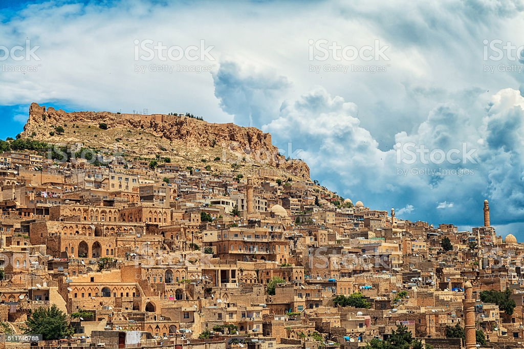 Historical city - Mardin stock photo