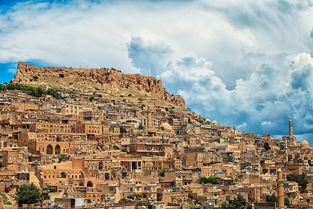 Historical city - Mardin stock photo