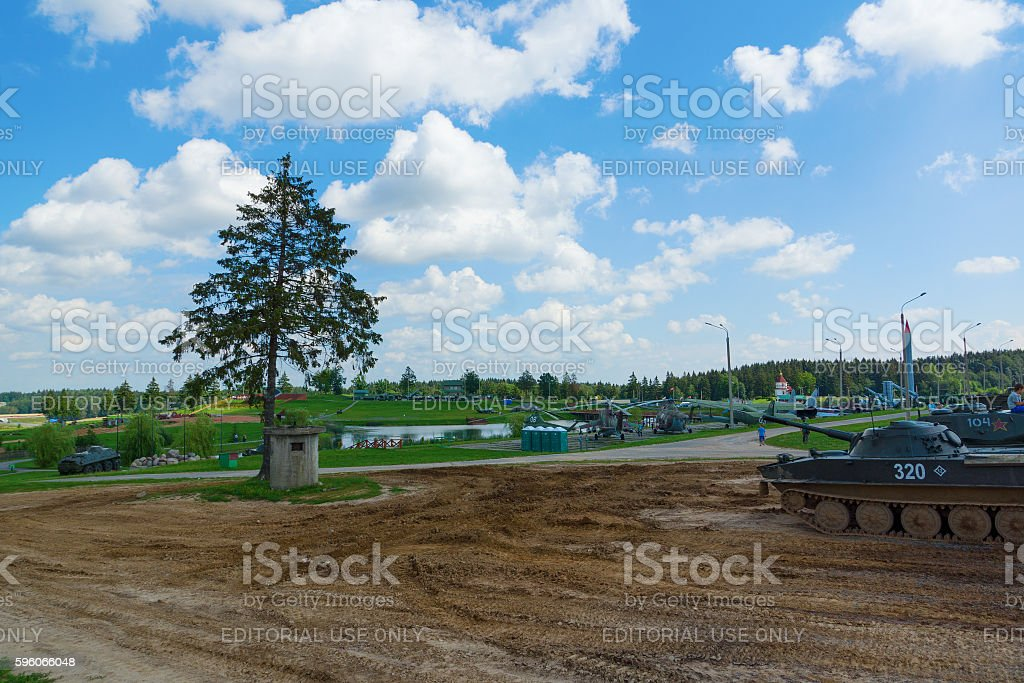 historical complex Stalin Line royalty-free stock photo