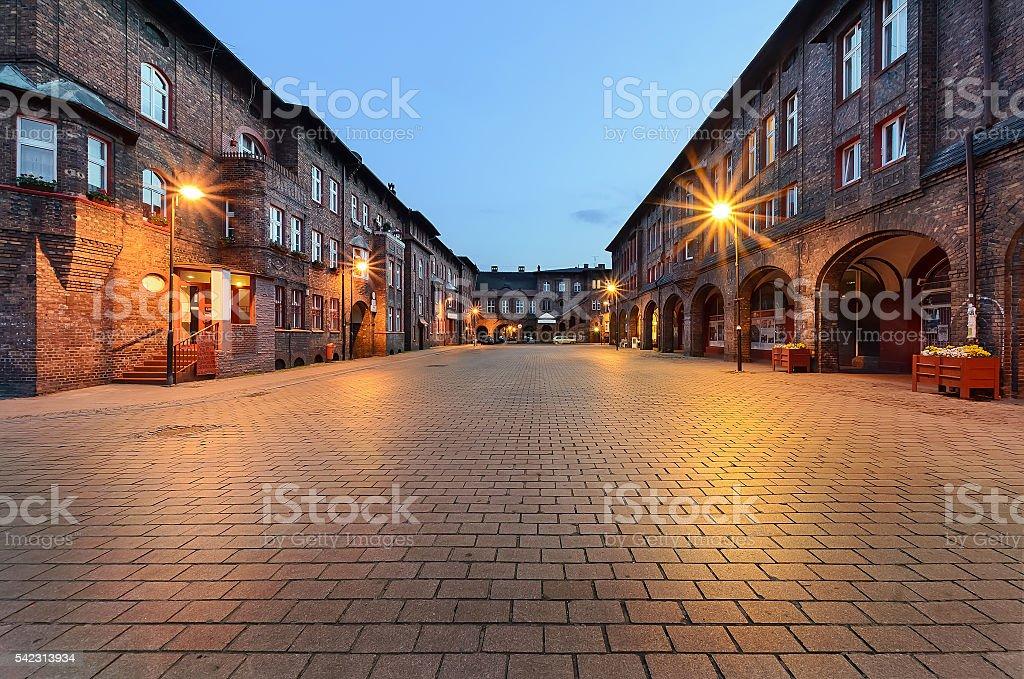 Historical development in Nikiszowiec district in Katowice stock photo