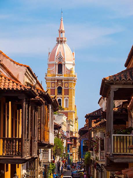 Distrito histórico de Cartagena - foto de stock