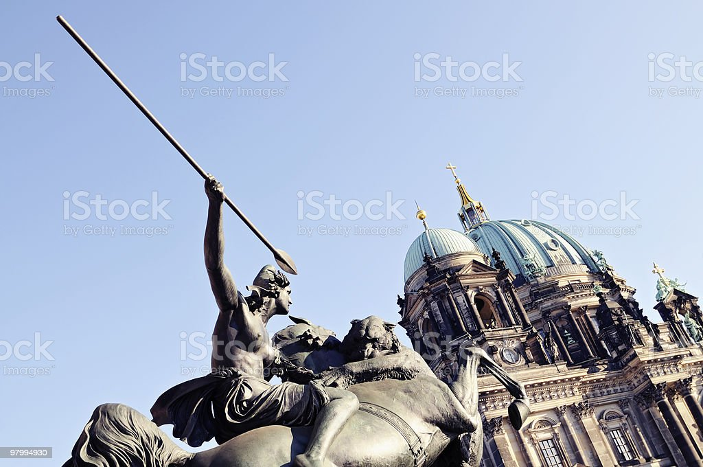 Historical dome in Berlin, Germany royalty-free stock photo