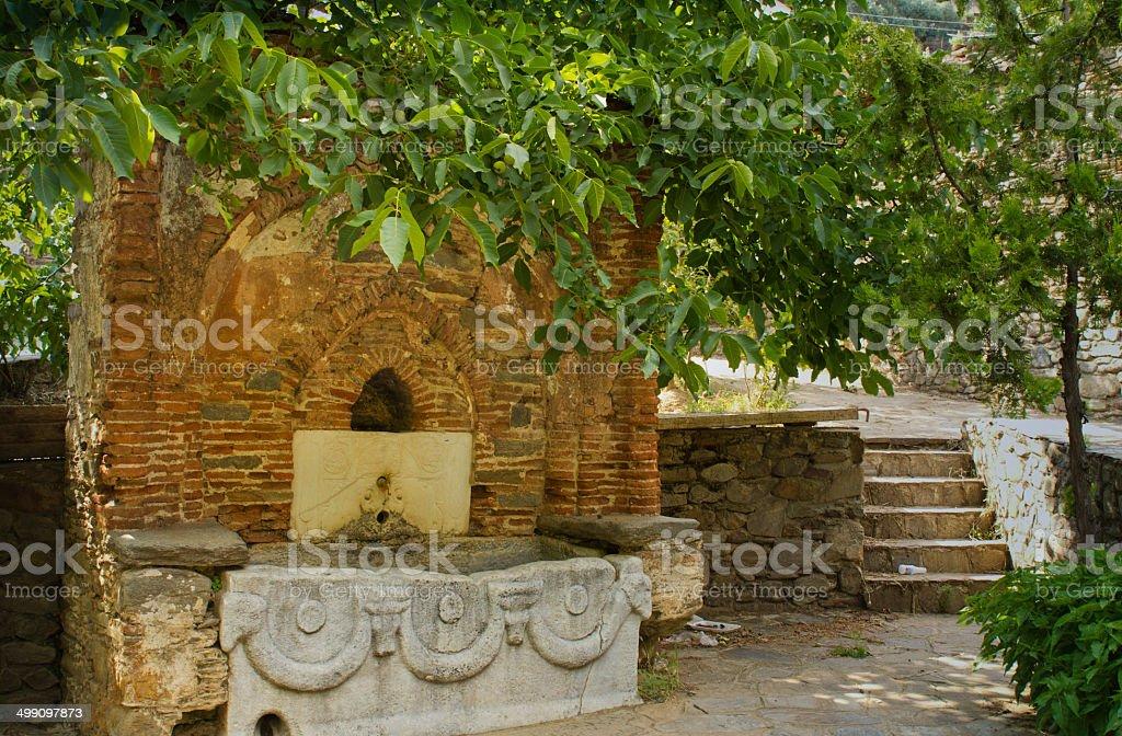 Historical Drinking Fountain stock photo