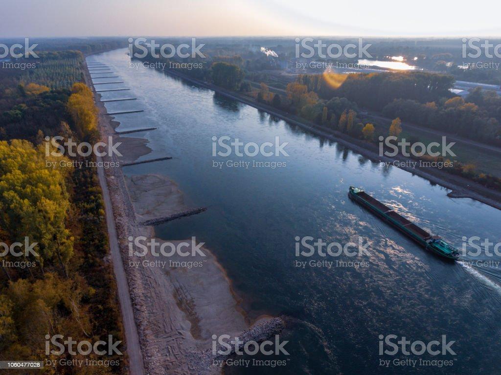 historischen Dürre am Rhein, Deutschland – Foto