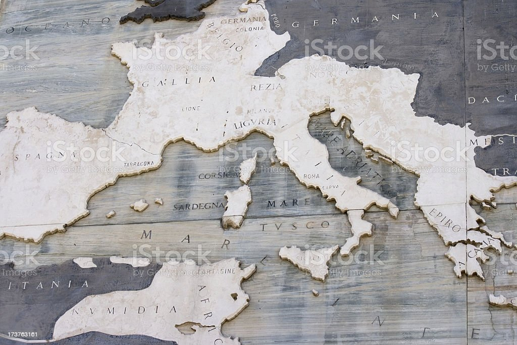 historical europe map - Roman Empire stock photo