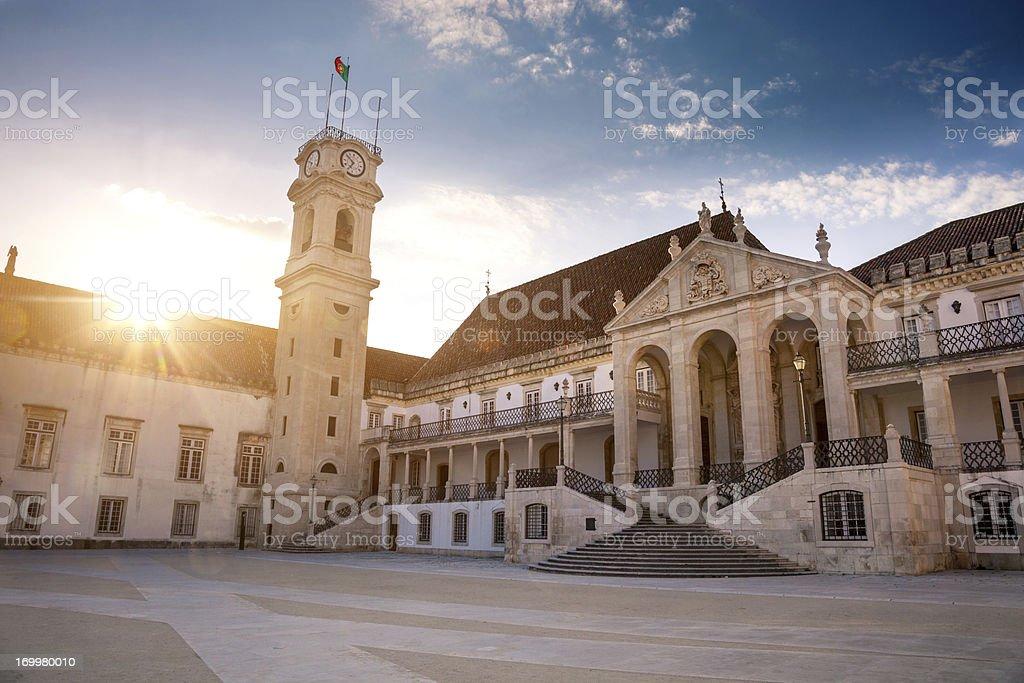 Historical European University: Universidade de Coimbra royalty-free stock photo