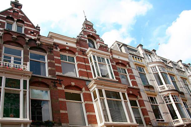 historical facades - den haag stockfoto's en -beelden