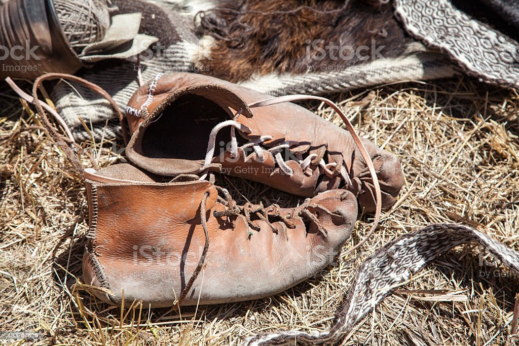 Historical footwear stock photo
