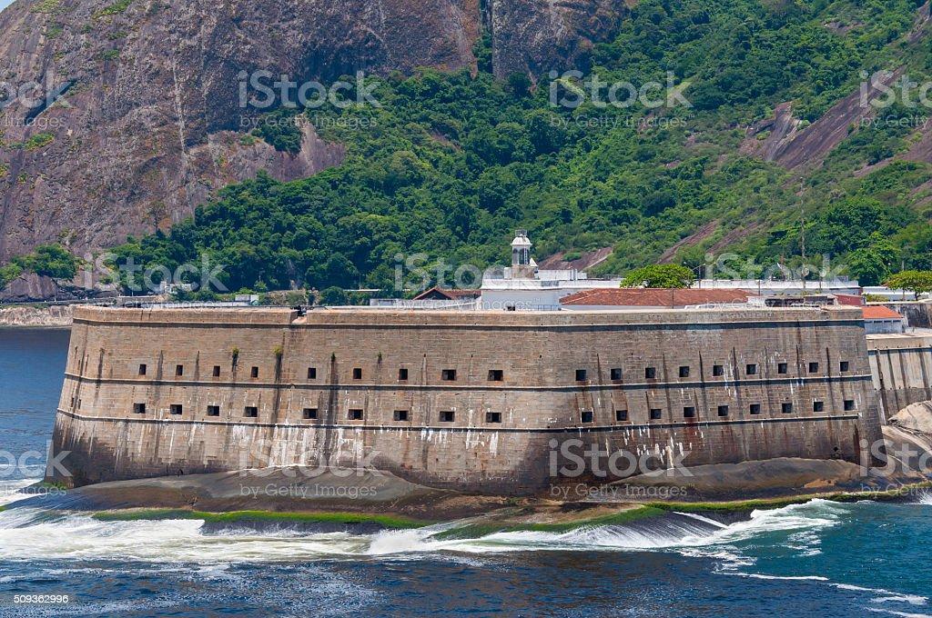 Historical fortress of Santa Cruz, at the entrance of Guanabara stock photo