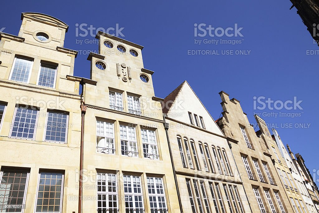 Historical gables and facades in Münster royalty-free stock photo