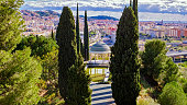 Historical Gazebo, Conception garden, jardin la concepcion in Malaga, Spain